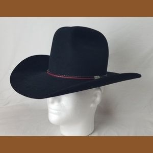 Resistol Geoege Strait Black 4X Cowboy Hat  6 7/8
